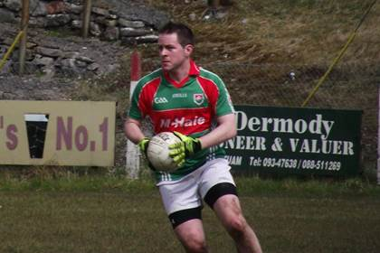 Padraig O'Dea in the colours of Kilmaine GAA