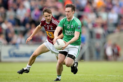 Westmeath&#39;s Kevin Maguire and Tomas Corrigan of Fermanagh<br />&#169;INPHO