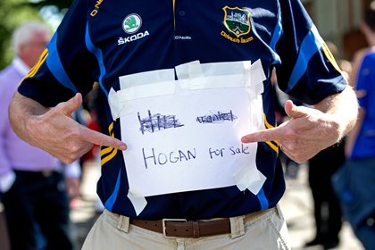 Fan searching for and selling tickets before the All Ireland hurling final.<br />&#169;INPHO