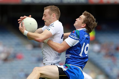Alan Smith of Kildare with Dessie Mone of Monaghan<br />&#169;INPHO