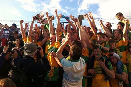 Celebration time for Ballylanders. Pic courtesy of Ballylanders GAA