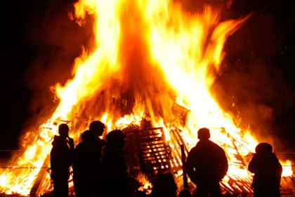 The bonfire close to the Boyne Bridge in South Belfast is set to be torched as part of the Twelfth of July celebration this weekend.