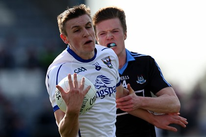 Dublin&#39;s Robert McDaid with Liam Buchanan of Cavan<br />&#169;INPHO