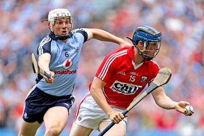 Dublin&#39;s Liam Rushe and Conor Lehane of Cork<br />&#169;INPHO/James Crombie