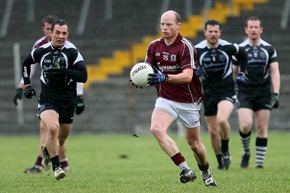 James Kavanagh in possession for Galway.<br />&#169;INPHO/James Crombie.