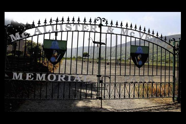 Controversy over removal of Antrim club's gates