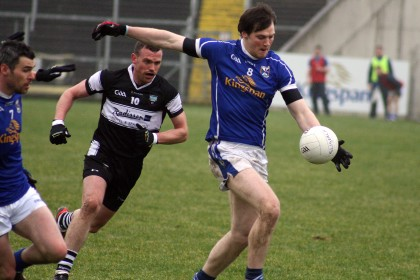 Gearoid McKiernan gains possession for Cavan against Sligo in the Division 3 FL game at Breffni Park