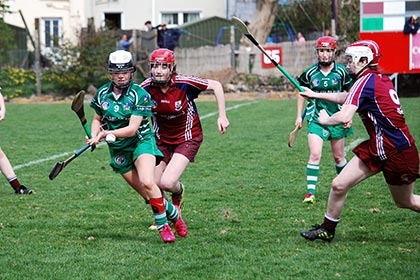 Karen O'Leary in action against Galway