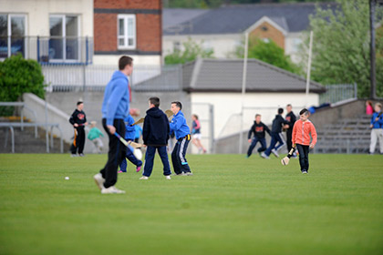 Half time puc around at Cusack Park Mullingar