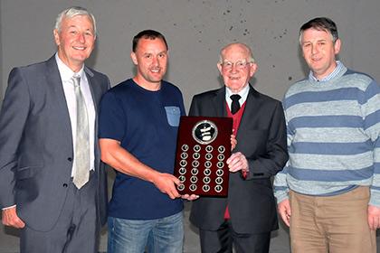 Hugh McGarry Dev Chairman, Shane Bruen Club Secretary, Jim Gilligan and Connell Cannon.