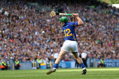 Tipperary's John O'Dwyer misses a penalty. INPHO
