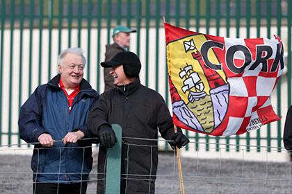 Cork fans in Ballyshannon. INPHO