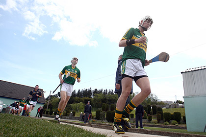 Kerry hurlers take to the field ©INPHO