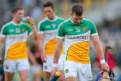 A dejected Brian Carroll of Offaly after the defeat to Kilkenny in Nowlan Park. INPHO