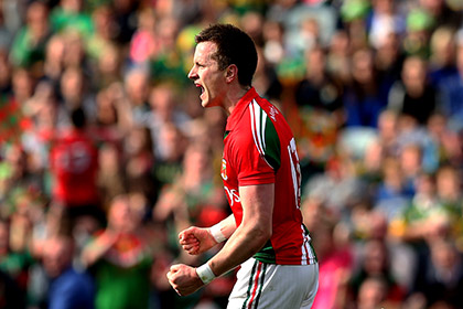Mayo's Cillian O'Connor celebrates. INPHO