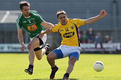 Westmeath's Kevin Maguire and Ciaran Lyng of Wexford during the Leinster SFC quarter final at Cuasack Park.