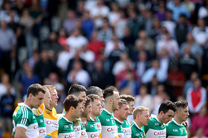 Offaly before their qualifier game against Kildare in O'Connor Park. INPHO