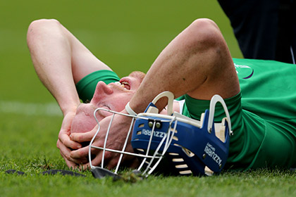 Limerick's Seamus Hickey injured. INPHO