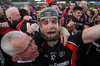 Oulart-The Ballagh's Darren Nolan celebrates. INPHO