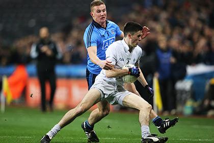Dublin's Ciaran Kilkenny and Mick O'Grady of Kildare. INPHO