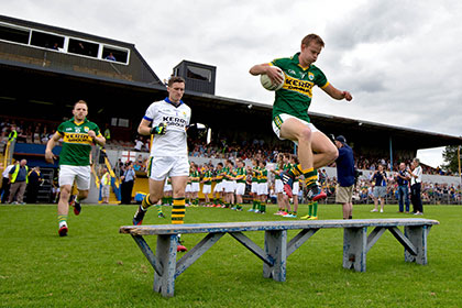Fionn Fitzgerald leads the kerry charge. INPHO