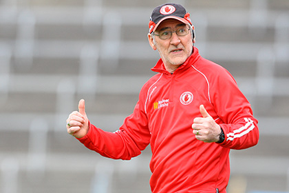 Tyrone manager Mickey Harte. INPHO