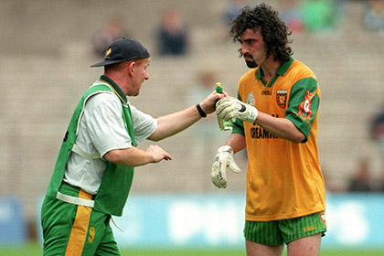 Declan Bonner and Jim McGuinness in 1998.<br />&#169;INPHO/Keith Heneghan.