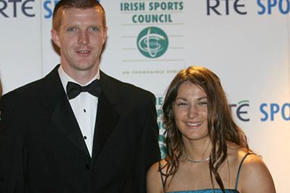 Irish sporting legends Henry Shefflin and Katie Taylor. INPHO