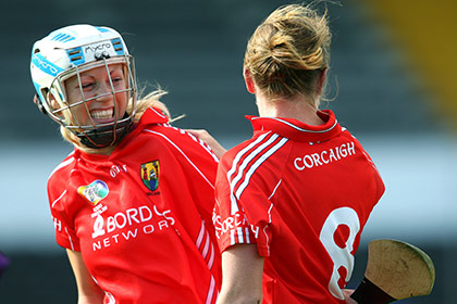 Lynda O'Connell and Breige Corkery celebrate. INPHO