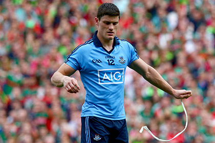 Diarmuid Connolly of Dublin leaves the field after being sent off. INPHO