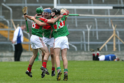 Loughmore Castleiney celebrate their 2013 county final win over Nenagh Eire Og. INPHO