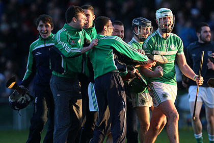 Kilmallock's Robbie Egan celebrates at the final whistle. INPHO