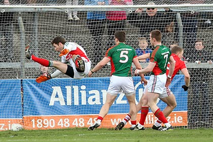 Brian Hurley's late goal seals a win for Cork. INPHO