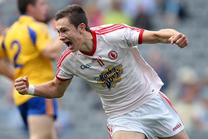 Conor McKenna of Tyrone celebrates. INPHO