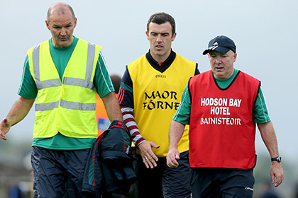 St. Brigids management team. Selectors Liam McHale and Basil Mannion with manager Benny O'Brien