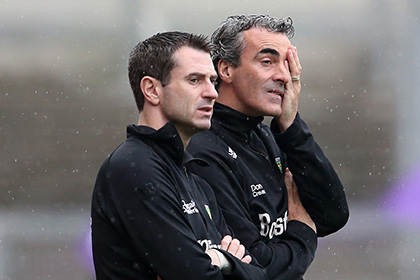 Rory Gallagher and Jim McGuinness. INPHO