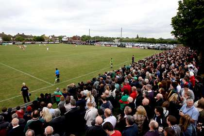 Supporters watch the Mayo versus London Connacht SFC game at Ruislip