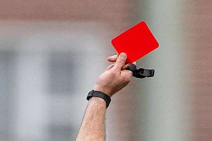 The dreaded red card