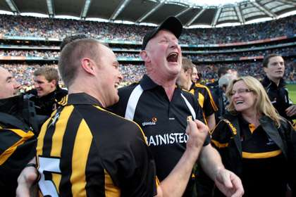 Kilkenny manager Brian Cody celebrates with Tommy Walsh