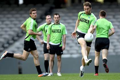 Zach Touhy training for the Ireland International Rules Squad at the Etihad Stadium, Melbourne