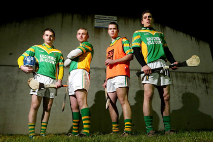 Kilcormac Killoughey players from left, Ciaran Slevin, Ger Healion, Daniel Currams and Conor Mahon. INPHO