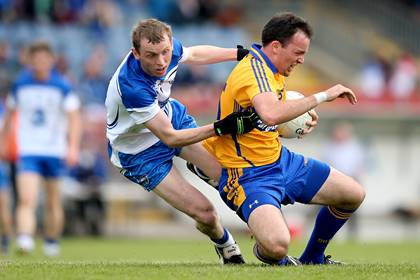 Waterford&#39;s Maurice O&#39;Gorman with David Tubridy of Clare.<br />&#169;INPHO/James Crombie.