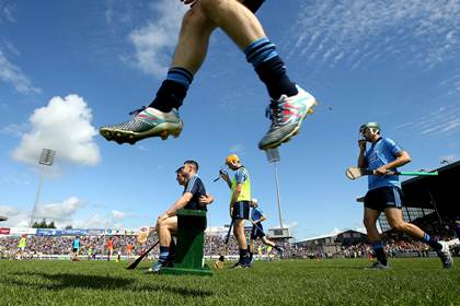 The Dublin team take to the field at Thurles  ©INPHO/James Crombie