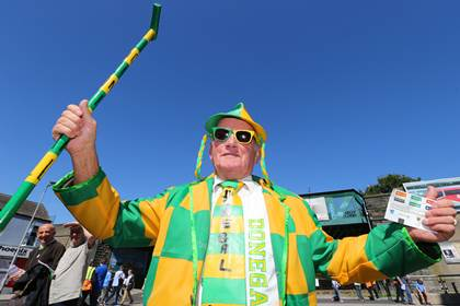Donegal supporter John Porter from Buncrana outside Croke Park before the game.<br />&#169;INPHO/Cathal Noonan.