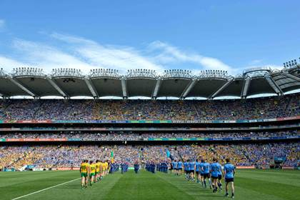 Dublin and Donegal parade in Croke Park ©INPHO/Morgan Treacy