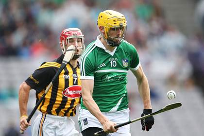 Limerick&#39;s David Breen and Cillian Buckley of Kilkenny.<br />&#169;INPHO/Cathal Noonan.
