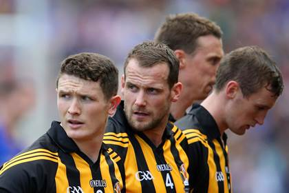 Kilkenny&#39;s Paul Murphy and Jackie Tyrrell look on.<br />&#169;INPHO/Cathal Noonan.