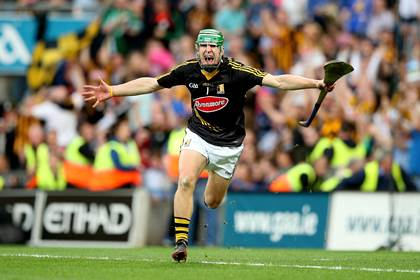 Kilkenny's goalkeeper Eoin Murphy celebrates at the final whistle of the All-Ireland final ©INPHO/James Crombie