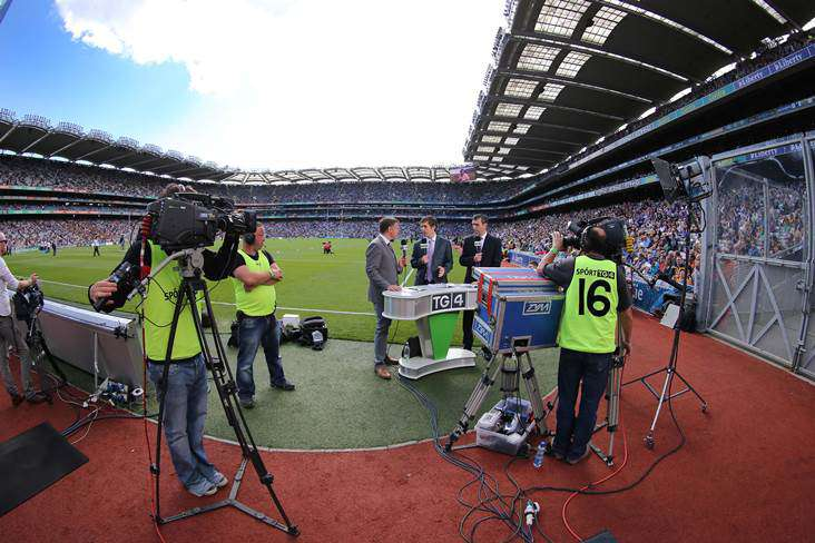 TG4 at Croke Park on All-Ireland hurling final day ©INPHO/Cathal Noonan