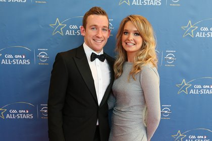 Kilkenny hurler Richie Hogan and Anne Ryan at the 2014 GAA GPA All Stars Awards Ceremony ©INPHO/Cathal Noonan